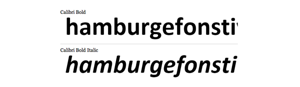 Calibri rounded sans serif font