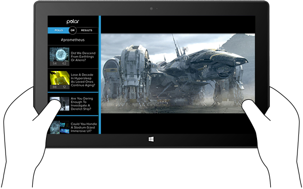 Polar Companion Web experience on Microsoft Surface