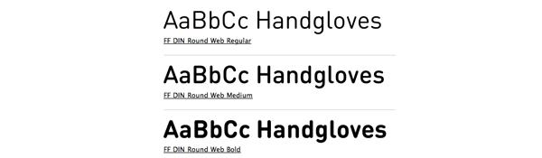 DIN rounded sans serif font