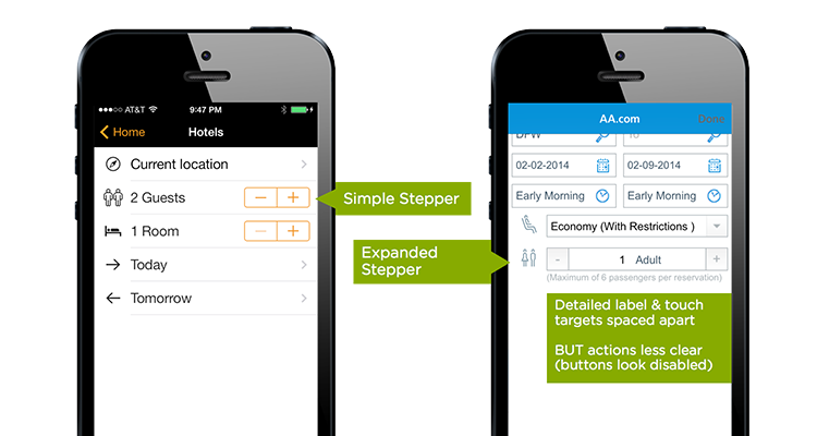 customizing steppers in forms