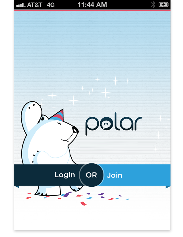 Polar Login Join page
