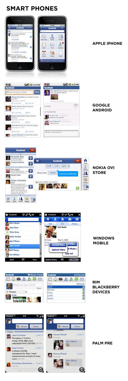 facebook smart phones