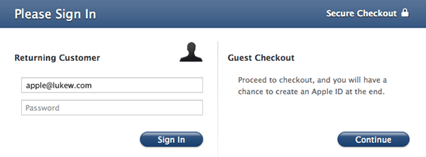Prominent guest checkout option