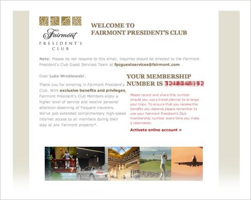 fairmont form