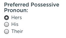 Possessive Pronoun Selection