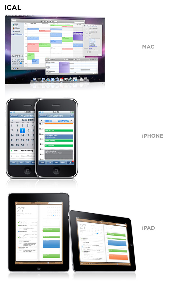 ical on mac, iphone, and ipad