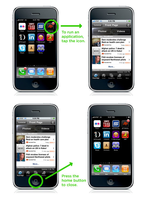 iphone app interactions