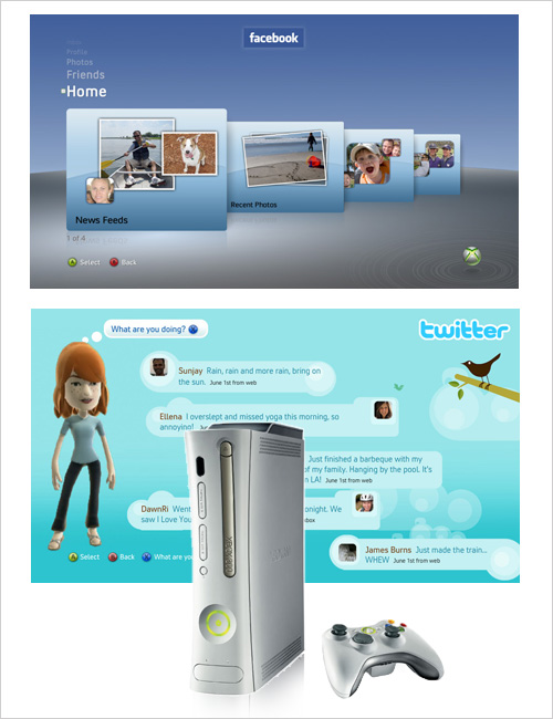 Facebook & Twitter on the Xbox 360