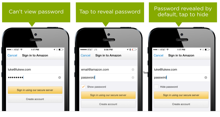 Amazon Show Password