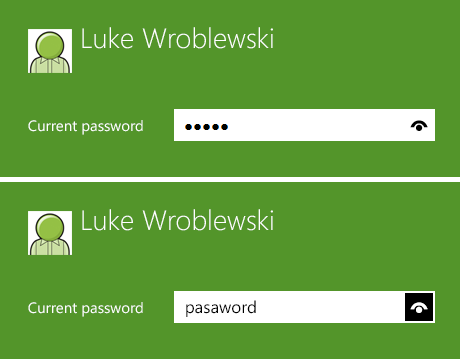 Show Password on Windows 8