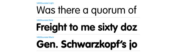 VAG rounded sans serif font