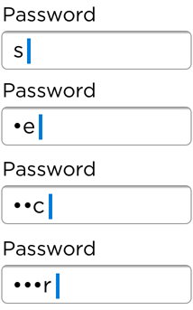 Password Fields on Mobile Devices