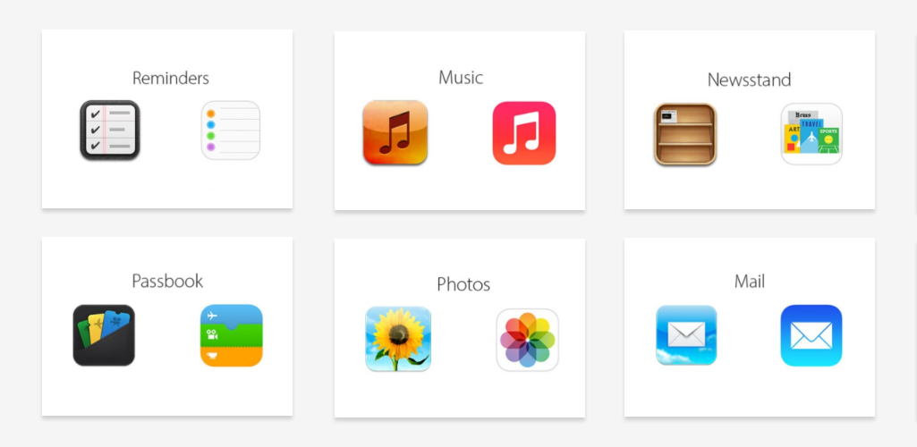 ios7 icon comparison