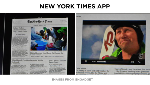 new york times on ipad