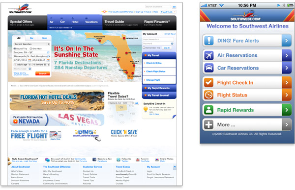 Mobile First Southwest comparison