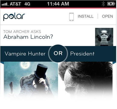 Polar Mobile Web experience