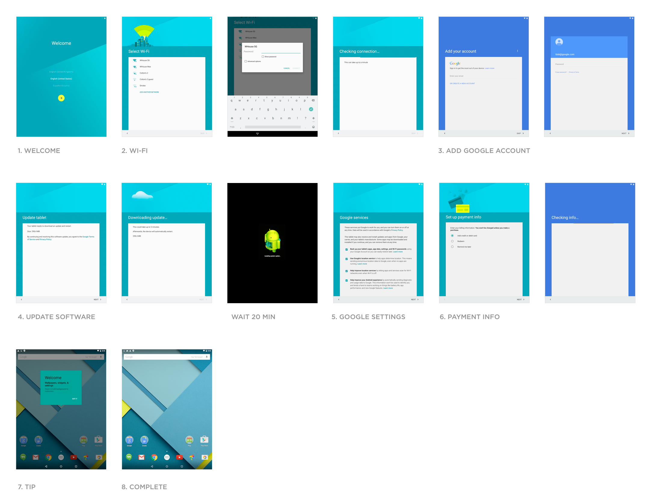 Google Nexus 9 Start Experience