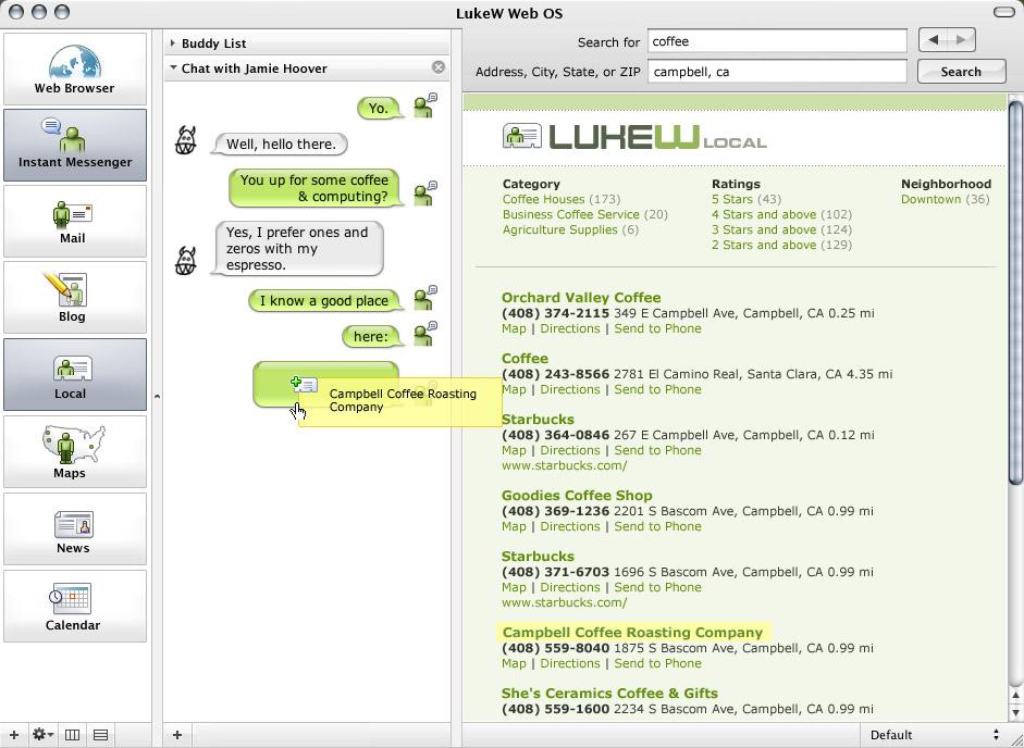 LukeW | A Drag & Drop Web Browser OS