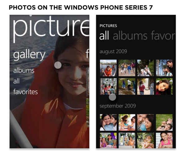 photos on the windows phone series 7